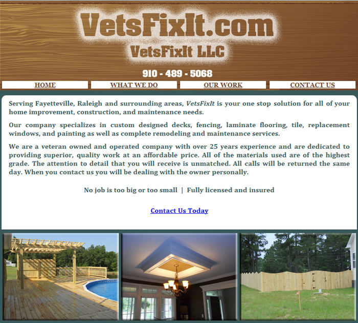 VetsFixIt.com Website